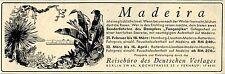 """Madeira mit dem Dampfer """"Tanganjika"""" Historische Reklame von 1938"""