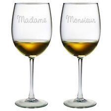 Wine Glasses Madame and Monsieur Set of 2