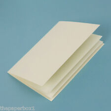 50 Ivory Linen Paper Inserts - A5 folds to fit A6 cards