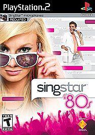 SingStar '80s (Sony PlayStation 2, Black Label) CIB PS2