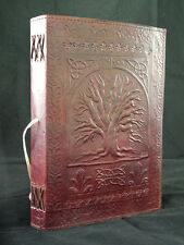 Large TREE of LIFE Pagan Wicca Handmade Leather Grimoire Book-of-Shadows Journal