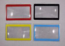Fresnel Lens Magnifier - Magnifying Reading Glass  - Credit Card Wallet Size