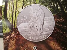 2013 CANADA $20 DOLLAR WOLF  1/4 OZ. .9999 SILVER  WITH FOLDER AND COA