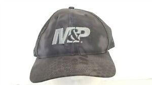 Smith & Wesson M&P Black Gray Mesh Ball Cap Hat Adjustable NEW Snapback