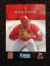 RUSSELL WILSON Very 1st Baseball Card Freshman Year NC State 2009 NFL SEAHAWKS