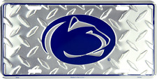 Penn State Nittany Lions Diamond Embossed License Plate Made in the USA