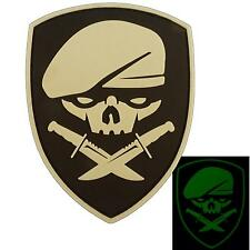 glow dark Medal of Honor MOH rangers PVC 3D rubber GITD airsoft hook&loop patch