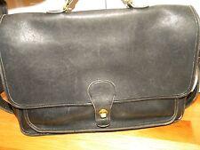 COACH 5180 Black Leather Metropolitan Briefcase Cross Body Bag - Carry Lap Top