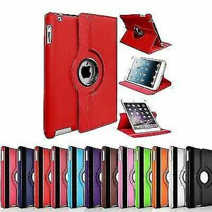 NEW PLAIN 360° Rotating Smart Stand Case Cover for all iPad generations/AIRs