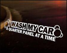 WASH PANEL Car Decal VINYL Sticker JDM Funny Euro Valet vehicle bumper