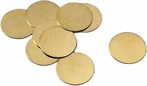 6 Circle Blanks Metal Stamping Gold Brass Round No Hole 16mm