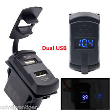 12V Dual USB Car Marine Boat Switch Power Socket Plug Outlet Charger Adapter