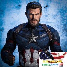 1/6 Chris Evan Captain America Head Beard ANGRY Version Phicen ❶US IN STOCK❶
