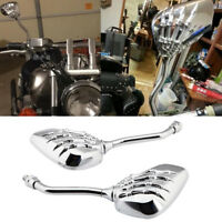Chrome Motorcycle Rearview Mirrors 8 10 mm For Honda Kawasaki Cruiser/Chopper MT