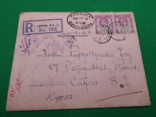 More details for ed.vii registered cover , 2 x 1 1/2d stamps , 4th july 1908 , to catford (s1491)