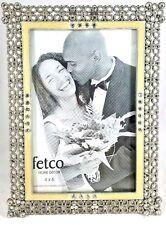 STAIN Silver Rhinestone Photo Picture Frame 4x6 FETCO Home Decor Floral Dillards