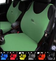 2 GREEN CAR SEAT COVERS FOR SKODA SITIGO FABIA PRAKTIK RAPID SPACEBACK