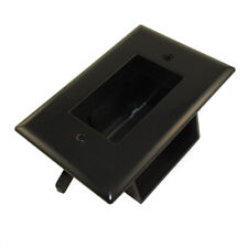 Wall plate: Recessed Low Voltage Cable Pass-Thru w/Easy Mount  Black