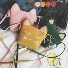 Children Kids Girls Cat Tote Handbag Shoulder Messenger Bags Crossbody Wallet UK