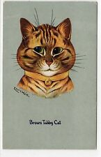 BROWN TABBY CAT: Louis Wain postcard (C1868).