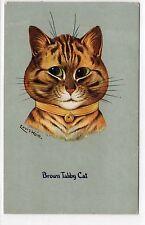 BROWN TABBY CAT: Louis Wain postcard (C1868).