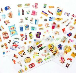 FOOD & DRINK STICKERS Snacks Scrapbook Journal Diary Card Stationery Craft Deco