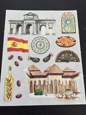 Creative Memories SIGHTSEEING SPAIN Block Sticker Europe OLIVE OIL HACIENDA FLAG
