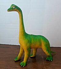 "Vintage 1985 Imperial Brontosaurus Dinosaur Plastic Brachiosaurus 7.5"" Green"
