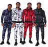 Mens Designer Polyester Tracksuit Style Slim Fit Joggers Bottom Zip Hoodie