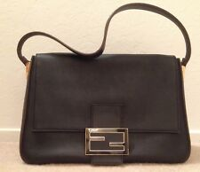35909c3dcf Great condition Fendi Big Mamma black leather shoulder bag gold FF LOGO  hardware