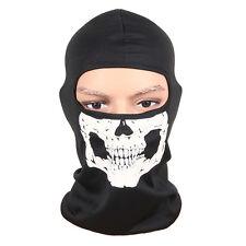 Motorcycle Bike Balaclava Ghost Skeleton Skull Mask Full Face Neck Head Hood Cap