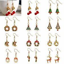 Lovely Cartoon Christmas Tree Earrings Drop Dangle Women Jewelry Xmas Party Gift
