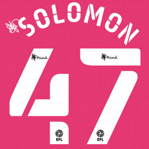 2020 2021 OFFICIAL DERBY COUNTY THIRD NAME SET SOLOMON 47 = PLAYER SIZE