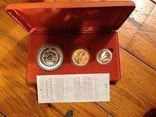 2002 Kookaburra 3-Coin Proof Set - 10oz,2oz,1oz - COA #006