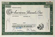 1970 AMERICAN BRANDS INC New Jersey Stock Certificate