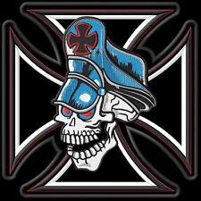 Cross Skull Cap XL cruzar Parche bordado iron-on patch
