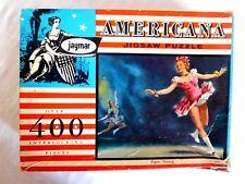 Rare Vintage Jaymar Americana Over 400 Piece Jigsaw Puzzle Figure Skating