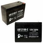 2-pack Schwinn s500 s350 Battery UB12100-S 12V 10Ah Sealed Lead Acid SLA AGM