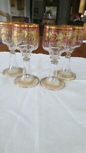 moser art glass goblets
