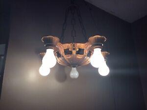 Vintage Ceiling Fixture Circa 1920-30's, 5 Lights, Excellent original condition