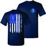 EMT Thin Blue Line Nurse Paramedic Emergency Medical Technician T-Shirt Tshirt