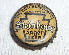 STEINHAUS LAGER BEER PA TAX CORK BOTTLE CAP - TOUGH CAP