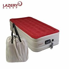 Lazery Sleep inflatable TWIN Air Mattress / Airbed with Built-In Electric Pump