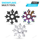 18 in 1 Portable Snowflake Multi Tool Stainless Tool Screwdriver Key Chain