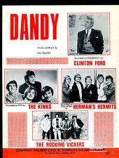 Kinks / Herman's Hermits : Dandy : original UK 1960's Sheet Music