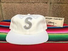 NWT SUPREME SS16 Reflective S logo white 6 panel hat cap box NEW rare