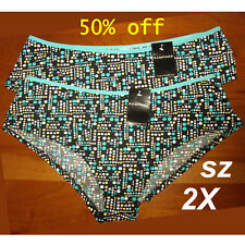 NWT Lot (2) two Sz 2X RAMPAGE Cool Print Panties~ Ultra light-weight Underwear