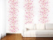 Tapete selbstklebend Dekofolie Blumenstaude Seideneffekt weiß rosa Blumen Vinyl
