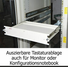 Server Tower Shelf with Expandable Rails Cable Routing Keyboard Monitor