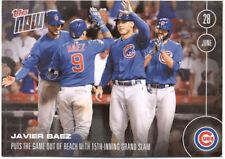 Javier Baez Chicago Cubs Topps Now #191 June 28 2016 Baseball Card